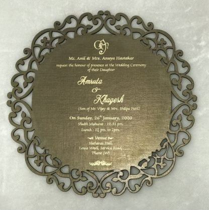 LASER CUT SINGLE CARDS ON MDF (WOODEN MATERIAL)