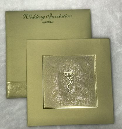 DRY FOIL WEDDING CARD