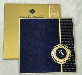 Blue satin cloth card