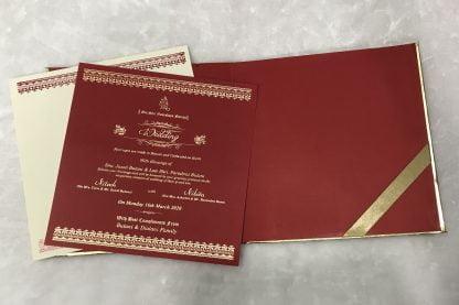 Red matt finished card
