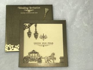 Laser cut frame wedding card