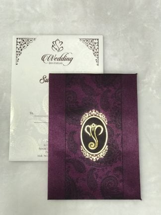 Purple satin cloth card