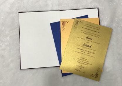 Purple satin cloth card