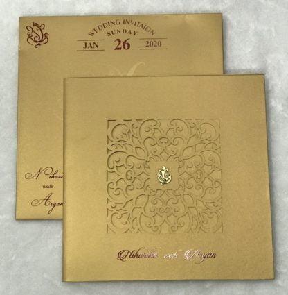 Laser cut 3 fold card