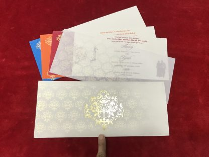 WHITE CARD WITH MOTIF