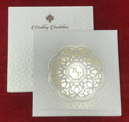 White laser cut card
