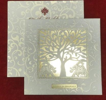 WHITE LASER CUT CARD