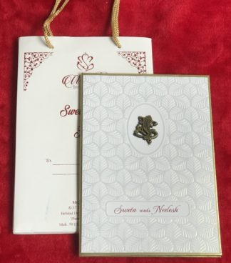 WHITE SELF EMBOSSED CARD