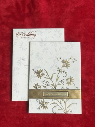 White card with golden foil
