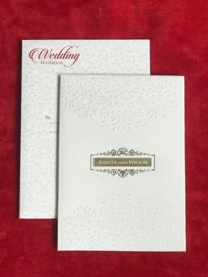White card with embossing
