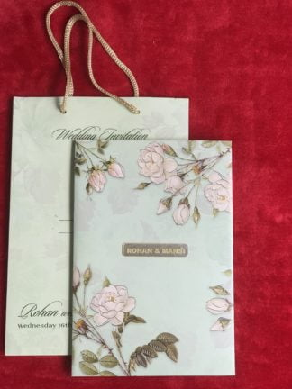 FLORAL BOX TYPE WEDDING CARD