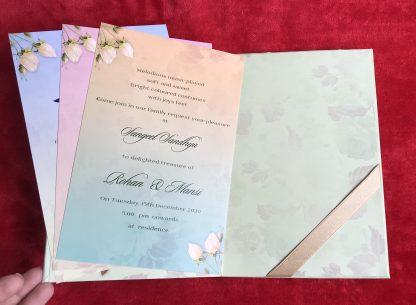 FLORAL BOX TYPE WEDDING CARD