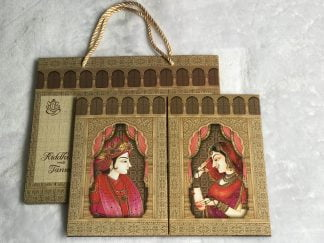 Traditional dulha and dulhan wedding card