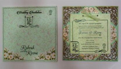 FLORAL FRAME WEDDING CARDS