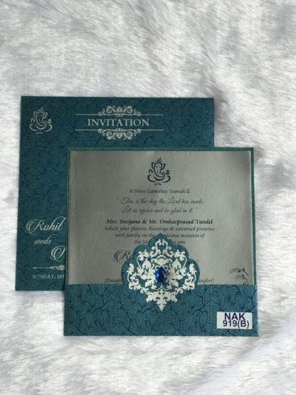 BLUE COLOR WEDDING CARDS