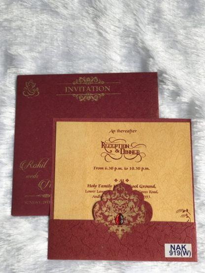 WINE COLOR WEDDING CARD
