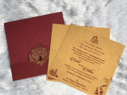 LASER JACKET WEDDING CARDS