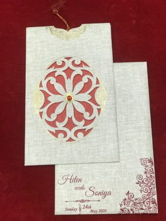 LASER CUT JACKET PATTERN WEDDING CARD