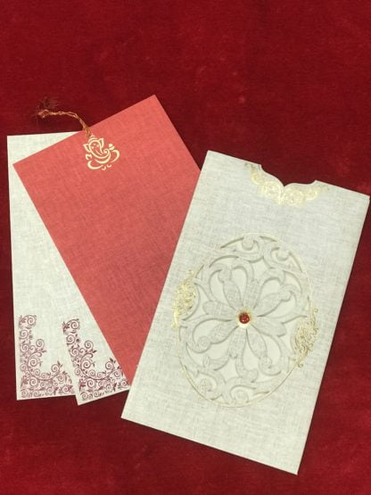LASER CUT JACKET PATTERN WEDDING CARD