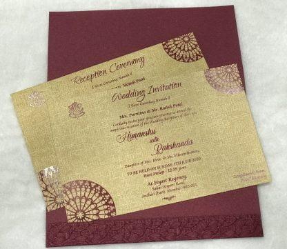 WINE COLOUR WEDDING CARD
