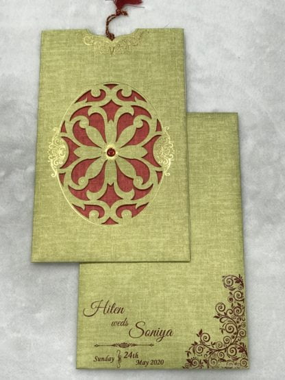 LASER JACKET WEDDING CARDS