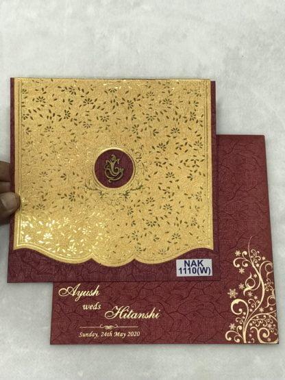 wine color wedding cards