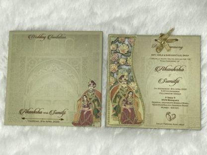 LASER CUT FRAME WEDDING CARDS