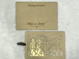 TREE OF LIFE LASER CUT WEDDING CARD