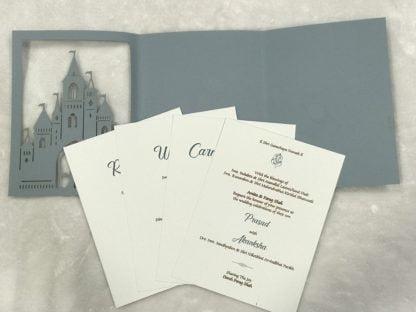 CATHOLIC CHURCH LASER CUT WEDDING CARD